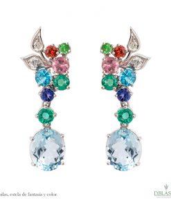 Pendientes diamantes gemas Águilas