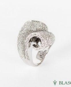anillo oro blanco diamantes cuajado pave sortija cuajada en blasco joyero joyeria en murcia