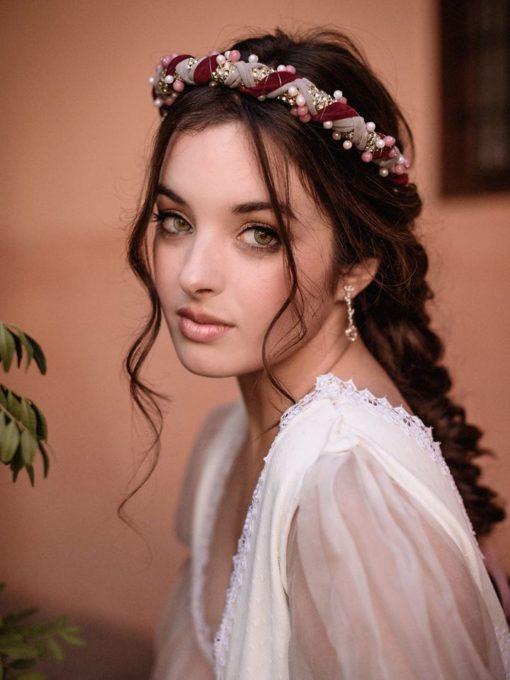 pendientes de novia diamantes y morganitas largos blasco joyero Murcia