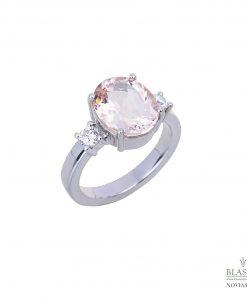 anillo de pedida en oro blanco diamantes morganita blasco joyero joyeria en murcia