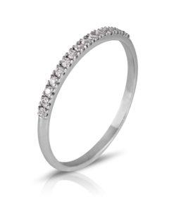 alianza de diamantes 0,15 oro blanco 18k