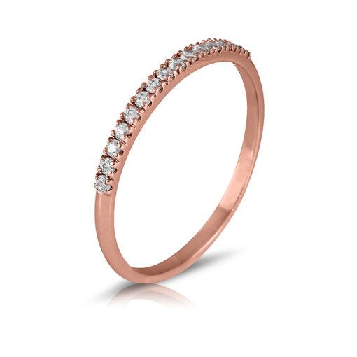Alianza de diamantes 0,15 oro rosa