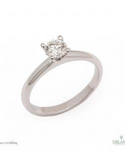 BLASCOBASIC Solitario diamante 0,15 quilates GVS2 oro blanco