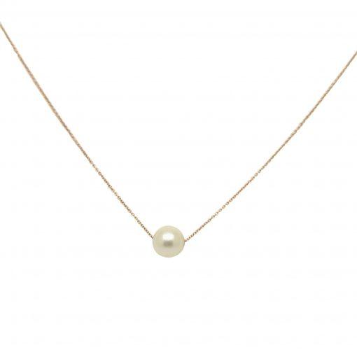 Cadena oro rosa perla