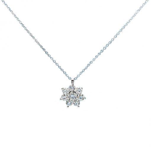 BLASCO-BASIC-Cadena-y-colgante-de-oro-blanco-con-orla-de-diamantes