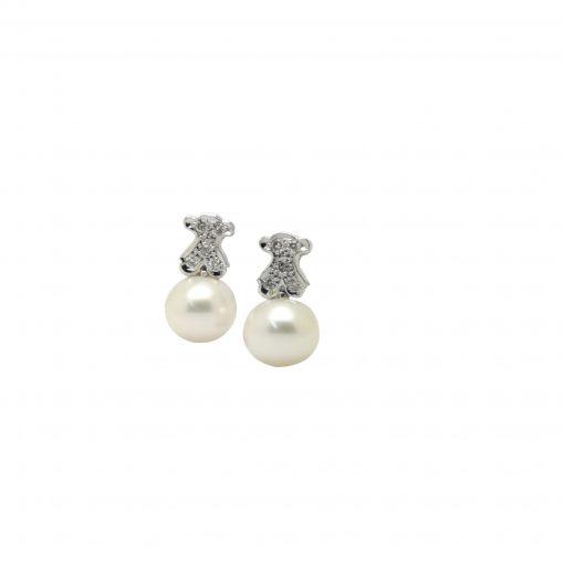 BLASCO-BASIC-Pendientes-Osito+Perla-oro-blanco-y-diamantes