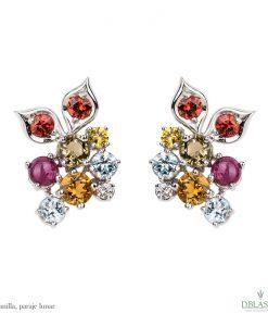Pendientes diamantes gemas Abanilla