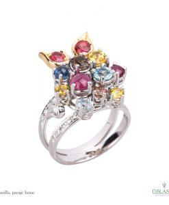 Anillo diamantes gemas Abanilla