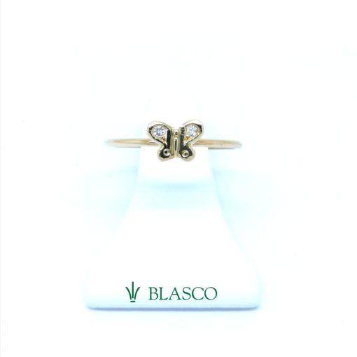 anillo oro blanco diamantes comunion y juvenil en blasco joyero joyeria en murcia