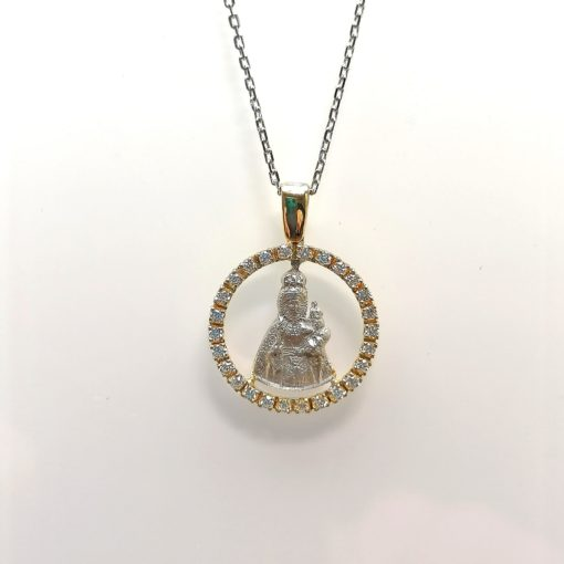Medalla Virgen de la Fuensanta Murcia diamantes y oro