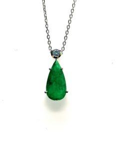 colgante esmeralda y diamante blasco joyero murcia