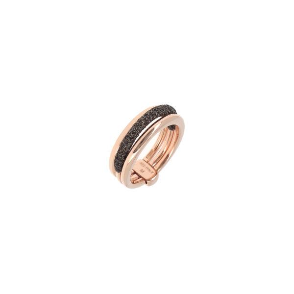 anillo pesavento plata rosa polvo marron blasco joyero taller joyeria en murcia wplva717