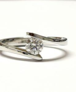 solitario diamante 0,18 quilates anillo de pedida blasco joyero Murcia