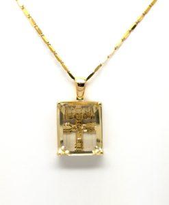 cruz de caravaca exclusiva topacio citrino y oro amarillo 18k caravaca de la cruz blasco joyero joyeria en murcia blasco joyero