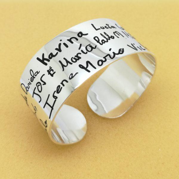 pulsera plata personalizada regalo personalizado profesora maestra educadora docente original juvenil blasco joyero joyeros taller joyeria en murcia