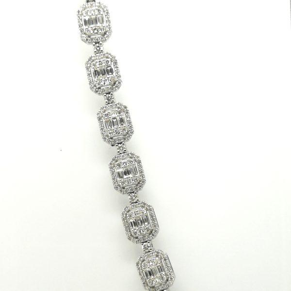 pulsera diamantes talla rectangular baguet y princesa de pedida y novias en blasco joyero taller joyeria murcia