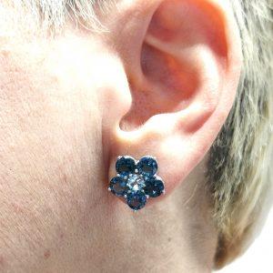 pendientes orlas topacios azul claro y london blue en blasco joyero taller de joyeria en murcia