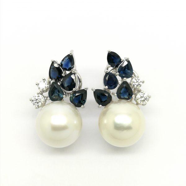 pendientes diamantes zafiro perla australiana blasco joyero joyería en murcia