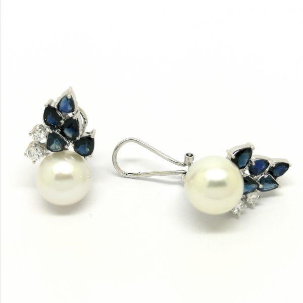 pendientes diamantes zafiros perla australiana blasco joyero joyeria en murcia