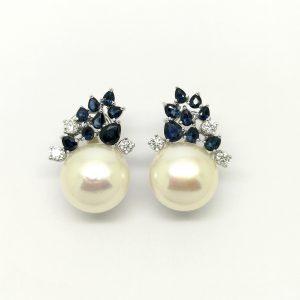 pendientes zafiros diamantes y perlas blasco joyero joyeria en murcia