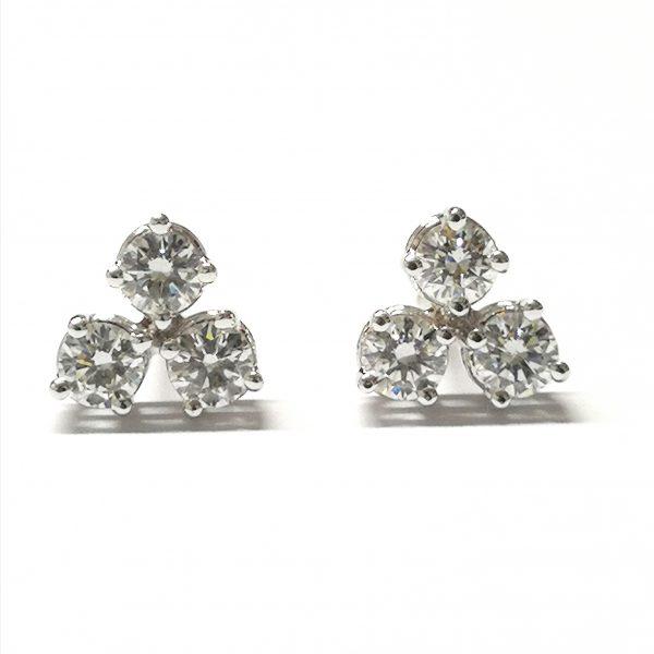 pendientes diamantes top wesselton extra pureza novia blasco joyero taller joyeria en murcia