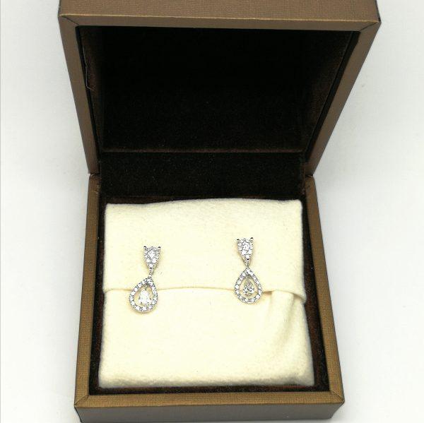 pendientes novia diamantes lagrima blasco joyero joyeria en murcia