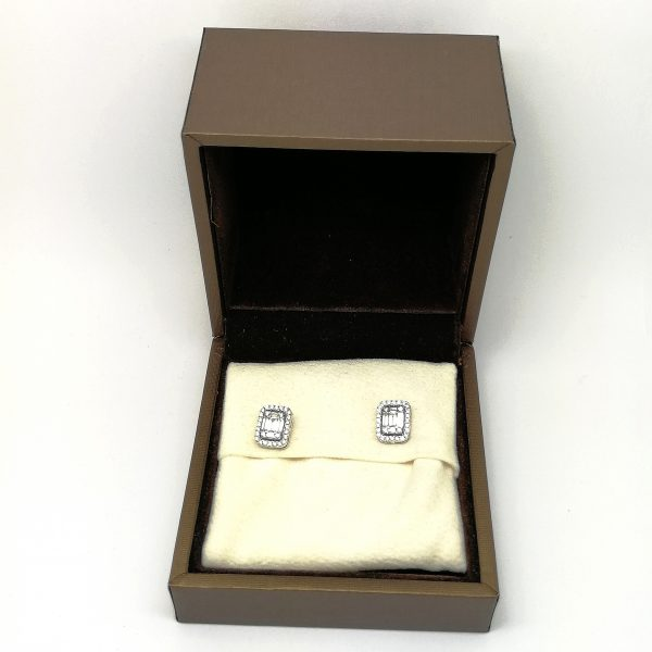 pendientes diamantes baguets blasco joyero joyeria en murcia