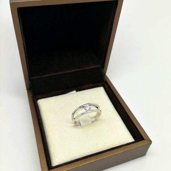 anillo pedida solitario diamante 0,30 blasco joyero joyeria en murcia
