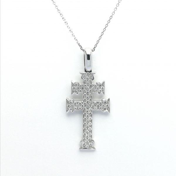 cruz de caravaca diamantes, blasco joyero, murcia, joyeria en murcia, taller de joyeria en murcia, cruz diamantes, caravaca de la cruz