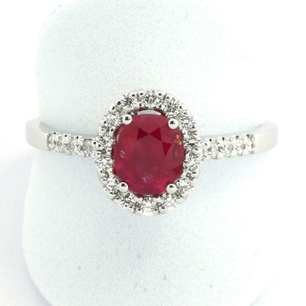 sortija anillo oro blanco rubi rubies diamantes brillantes novio novios novia novias taller joyeria especialistas bodas murcia