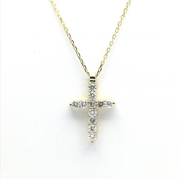 cadena cruz oro blanco diamantes brillantes comunion oro amarillo taller joyeria en murcia especialistas novios novias novio novia blasco joyero joyeros