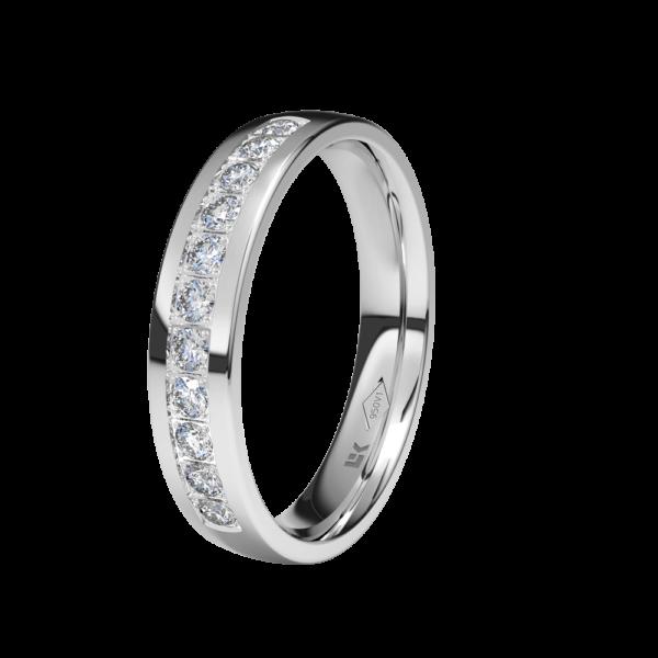 anillo sortija media alianza platino diamantes novio novia novios novias especialistas taller joyeria blasco joyero joyeros en murcia