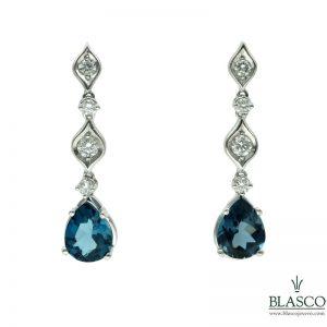 pendientes topacio azul london blue diamantes novia pedida joyas region de murcia en blasco joyero taller joyeria en murcia pendientes para novia